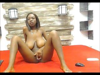 Ebony teen with big saggy boobs