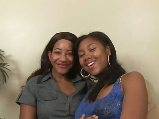 Dark skinned lesbian Kendra Lee desires to enjoy some horny masturbation