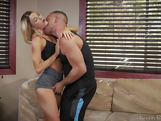 Slutty chick Emma Hix has an affair with neighbor while husband is on a business trip