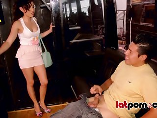 Melody Petite has fun with hunged like a horse dude