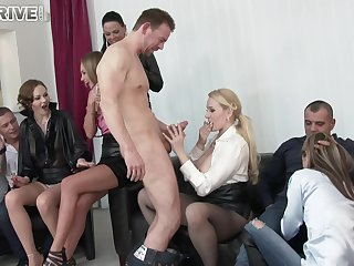 Angel Wicky crazy sex party in the office