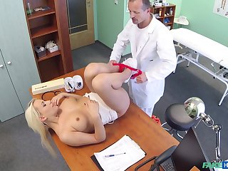 Lucy Shine gets fucked by hard doctor's dick on the hospital's bed