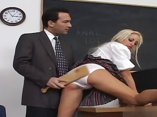 Savannah Gold loves being naughty because it means getting spanked by the handsome man