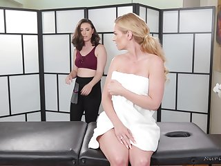 A sexy MILF gets the full treatment including a happy ending massage