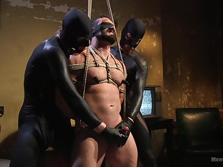 Erotic anal passion for gay lovers in BDSM tryout