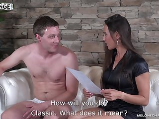 Amateur guy fucks Czech adult actress Mea Melone and cums in her mouth