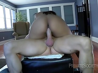 Charismatic Diamond Love is having gentle anal sex with a handsome guy who isnt her partner