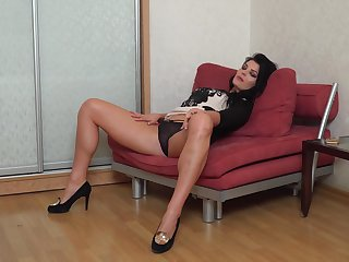 Lonely mommy Milena is masturbating wet pussy and dreaming of your big hard dick