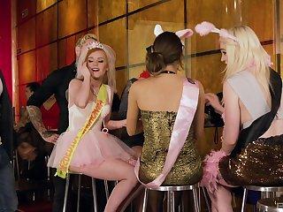 Massive orgy with Lucia Love, Carly Rae, Ella Hughes and Suzi Rainbow