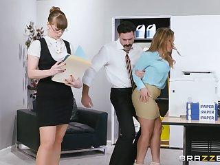 Amazing nude secretary fucks with her boss in pretty rough scenes