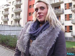 POV video of blonde babe Brittany Bardot having sex for money