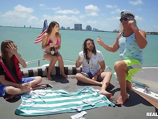 Super-best boat sex party with seaman & semen