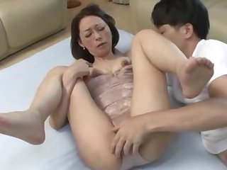 Fine Japanese mature feels perfect during home sex