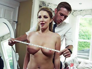 Georgie Lyall climbs on a big cock of Danny D for crazy ride