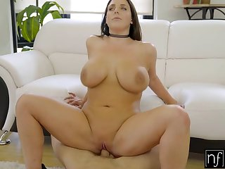 NF Busty - Angela Whites Huge Natural Tits Bounce S3:E3